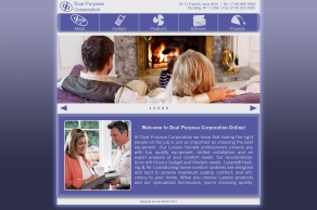 d web-Dual Purpose home page design(with icons)