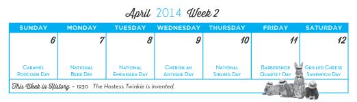 Everyday's a Holiday Calendar