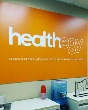 Healthegy Office Sign