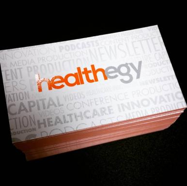 Healthegy Business Card Branding