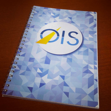 Full Custom OIS Notebook – Paper-stock & inside pages fully customized for Healthegy's OIS Event