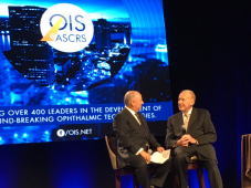Digital Signage for OIS@ASCRS in action for the award ceremony