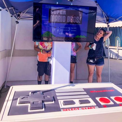 Giant NES Nintendo Entertainment System Control ~ For Rent ~ Long Island, New York ~ East Coast US ~ Munoz Stock 2019 at Station Sports, Huntington, Long Island