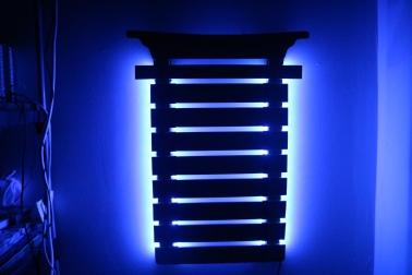 Laser-Engraved-Wooden-Karate-Belt-Holder-LED-Lights-Blue