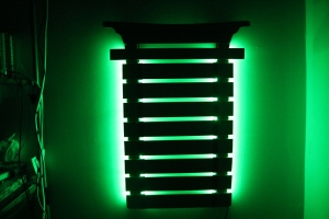 Laser-Engraved-Wooden-Karate-Belt-Holder-LED-Lights-Green