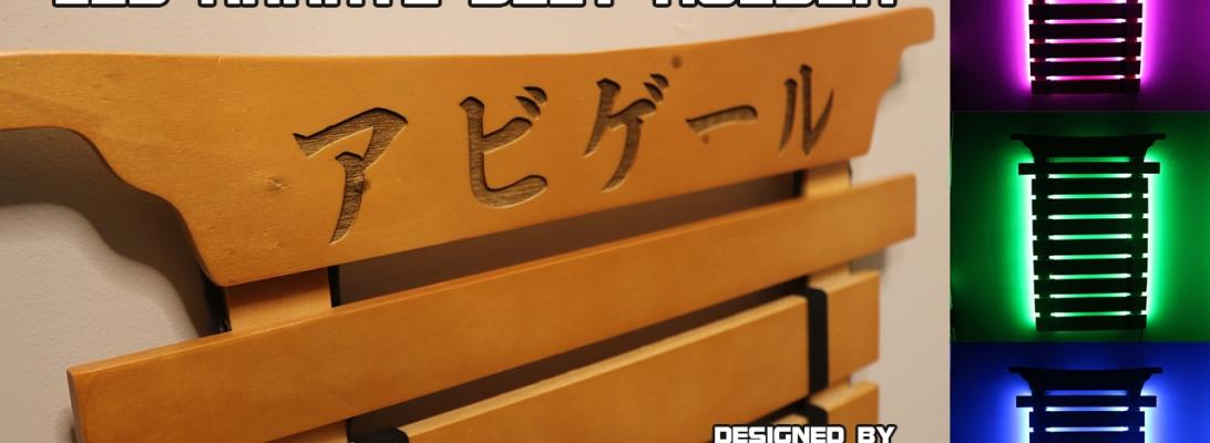 Custom Laser Engraved Wooden Karate Belt Holder - By Evan Munoz (Aka Uncle Skuby)